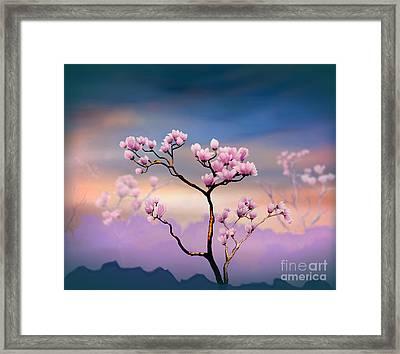 Pink Magnolia - Bright Version Framed Print by Bedros Awak