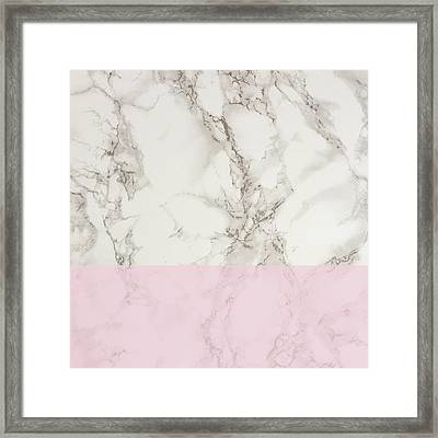 Pink Marble Framed Print by Suzanne Carter