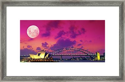 Pink Moon Framed Print by Sean Davey