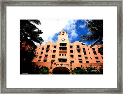 Pink Palace Of The Pacific Framed Print by Cheryl Young
