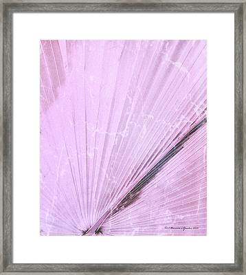 Pink Palm Frond Rh Framed Print by Marvin Spates