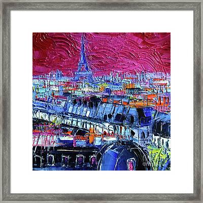 Pink Paris Framed Print by Mona Edulesco