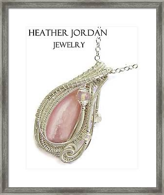 Pink Peruvian Opal Pendant In Sterling Silver With Ethiopian Opals Pposs2 Framed Print by Heather Jordan