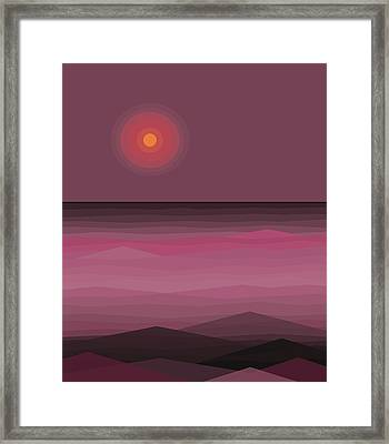 Pink Sea Framed Print by Val Arie