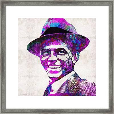 Pink Sinatra - Frank Sinatra Tribute Framed Print by Sharon Cummings