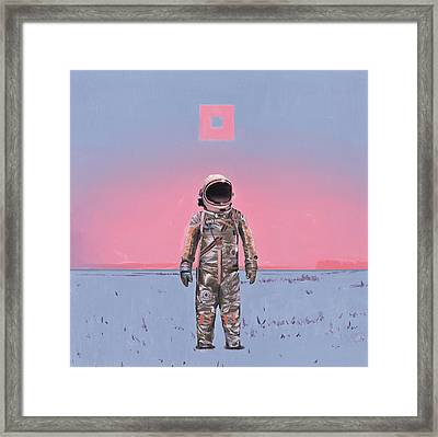 Pink Square Framed Print by Scott Listfield