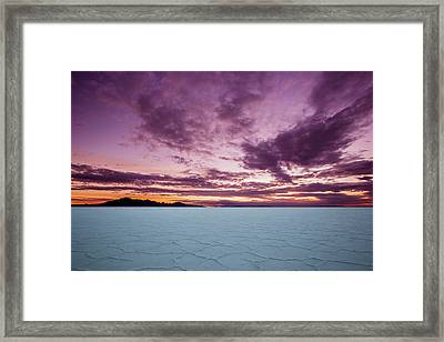 Pink Sunrise Framed Print by Edgars Erglis