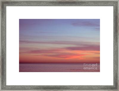 Pink Sunset Framed Print by Ana V Ramirez