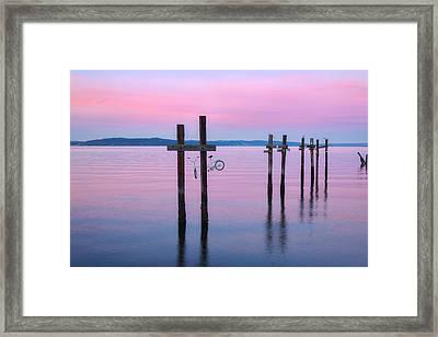 Pink Sunset Framed Print by Ryan Manuel