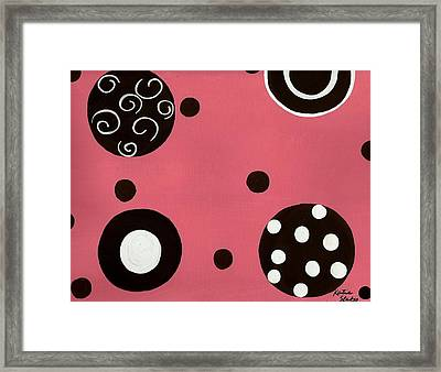 Pink Swirly Curly Framed Print by Katie Slaby