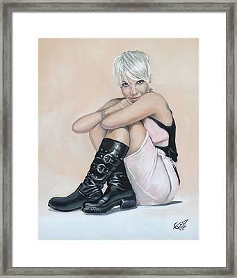 Pink Framed Print by Tom Carlton