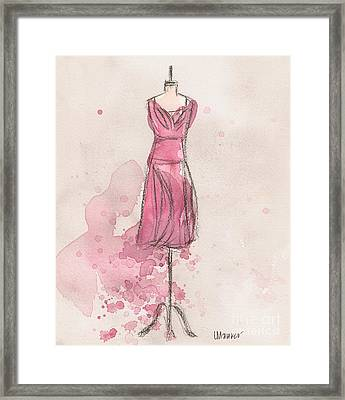 Pink Tulip Dress Framed Print by Lauren Maurer