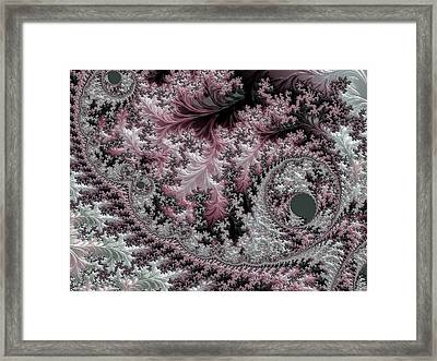 Pink Victorian Lace Framed Print by Susan Maxwell Schmidt