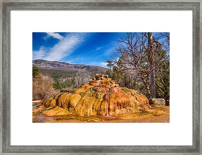 Pinkerton Hot Spring Formation Framed Print by James BO  Insogna