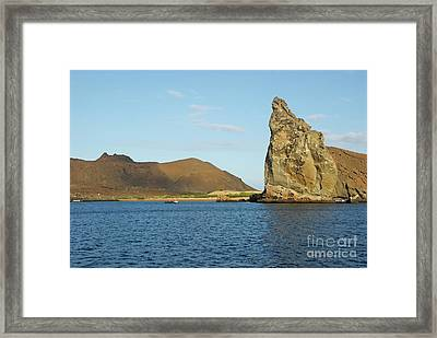 Pinnacle Rock From Sea Framed Print by Sami Sarkis