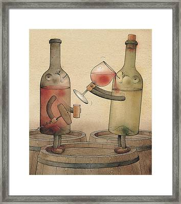 Pinot Noir And Chardonnay Framed Print by Kestutis Kasparavicius