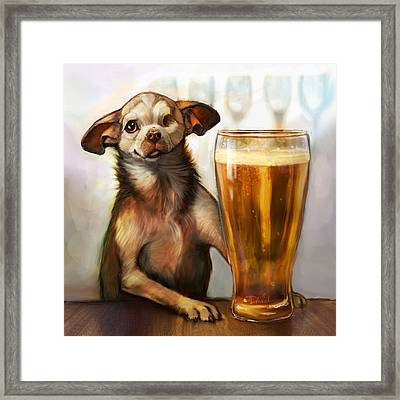 Pint Sized Hero Framed Print by Sean ODaniels