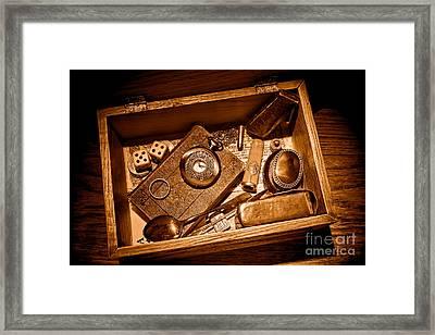 Pioneer Keepsake Box - Sepia Framed Print by Olivier Le Queinec