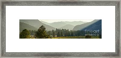 Pioneer Mountain Light Framed Print by Idaho Scenic Images Linda Lantzy
