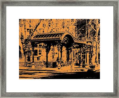 Pioneer Square Pergola Framed Print by Tim Allen