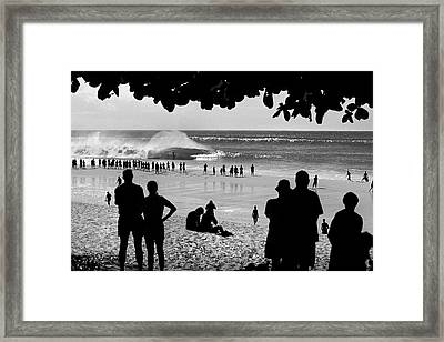 Pipe Arena Framed Print by Sean Davey