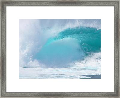 Pipeline First Reef Framed Print by Kevin Smith