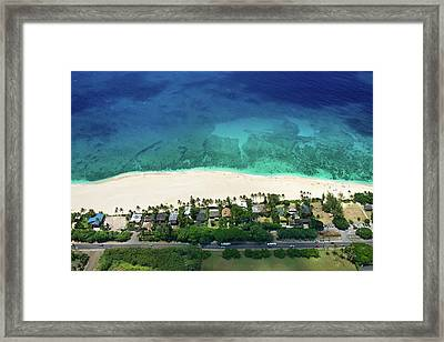 Pipeline Reef Overview Framed Print by Sean Davey