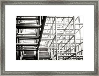 Piping Maze 2 Framed Print by Jijo George