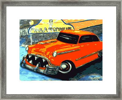 Piranha Chevy  Framed Print by Larry Lamb