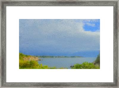Pirate Cove Jamestown Ri Framed Print by Bill McEntee