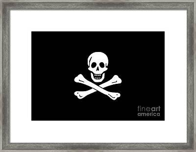 Pirate Flag Tee Framed Print by Edward Fielding