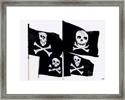 Pirate Flags Framed Print by David Lee Thompson