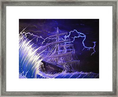 Pirate Ship  Framed Print by Hank  Bufkin