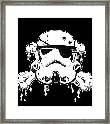 Pirate Trooper Framed Print by Nicklas Gustafsson