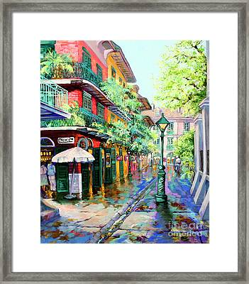 Pirates Alley - French Quarter Alley Framed Print by Dianne Parks