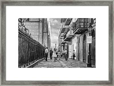 Pirate's Alley Wedding 2 Paint Bw Framed Print by Steve Harrington