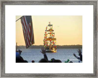 Pirate's Arrival Framed Print by David Lee Thompson