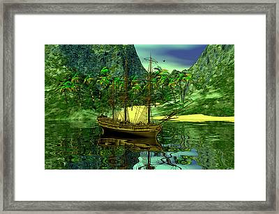 Pirate's Cove Framed Print by Claude McCoy