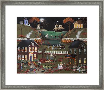 Pirate's Cove Halloween Framed Print by Catherine Holman