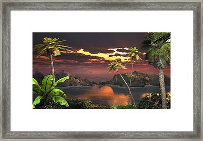 Pirate's Cove Framed Print by Mary Almond