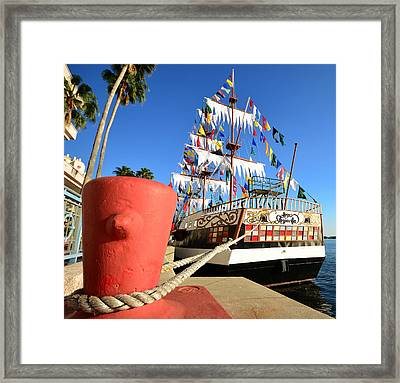 Pirates In Harbor Framed Print by David Lee Thompson