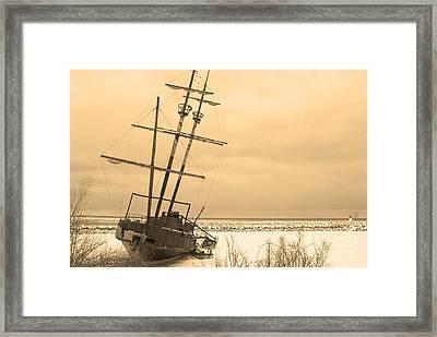 Pirates In The Harbour Framed Print by DebraLee Wiseberg