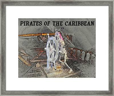 Pirates Skeleton Framed Print by David Lee Thompson