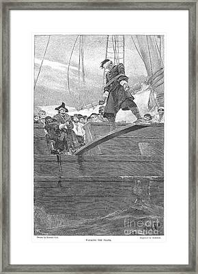 Pirates: Walking The Plank Framed Print by Granger