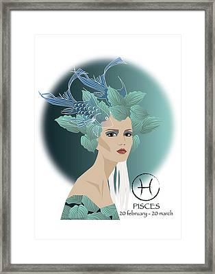Pisces Framed Print by Johanna Virtanen
