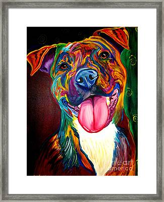 Pit Bull - Olive Framed Print by Alicia VanNoy Call
