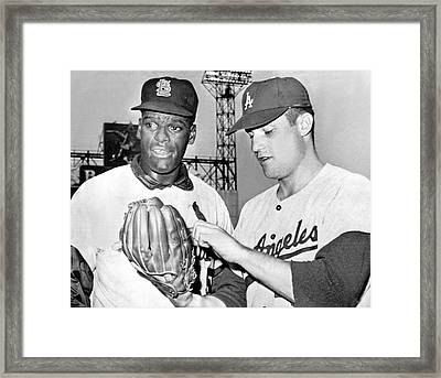 Pitcher Bob Gibson Framed Print by Underwood Archives