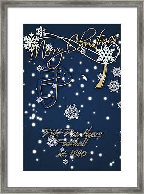 Pitt Panthers Christmas Cards Framed Print by Joe Hamilton
