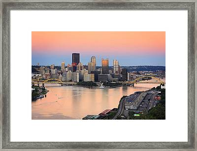 Pittsburgh 16 Framed Print by Emmanuel Panagiotakis