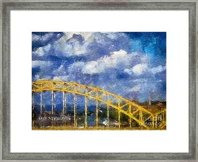 Pittsburgh 16th Street Bridge Framed Print by Amy Cicconi